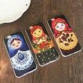 Симпатичные России Кукла матрешка ТПУ мягкий прочный телефон case Для IPHONE 5, 5S, SE, 6,6 S, 6 plus, 6 Splus высокое качество обратно продать крышки