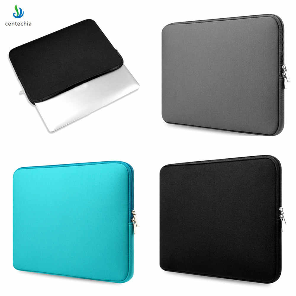 Draagbare Rits Computer Sleeve Case Voor Macbook Laptop AIR PRO Retina 11 12 13 14 15 13.3 15.4 15.6 inch notebook Touch Bar Bag
