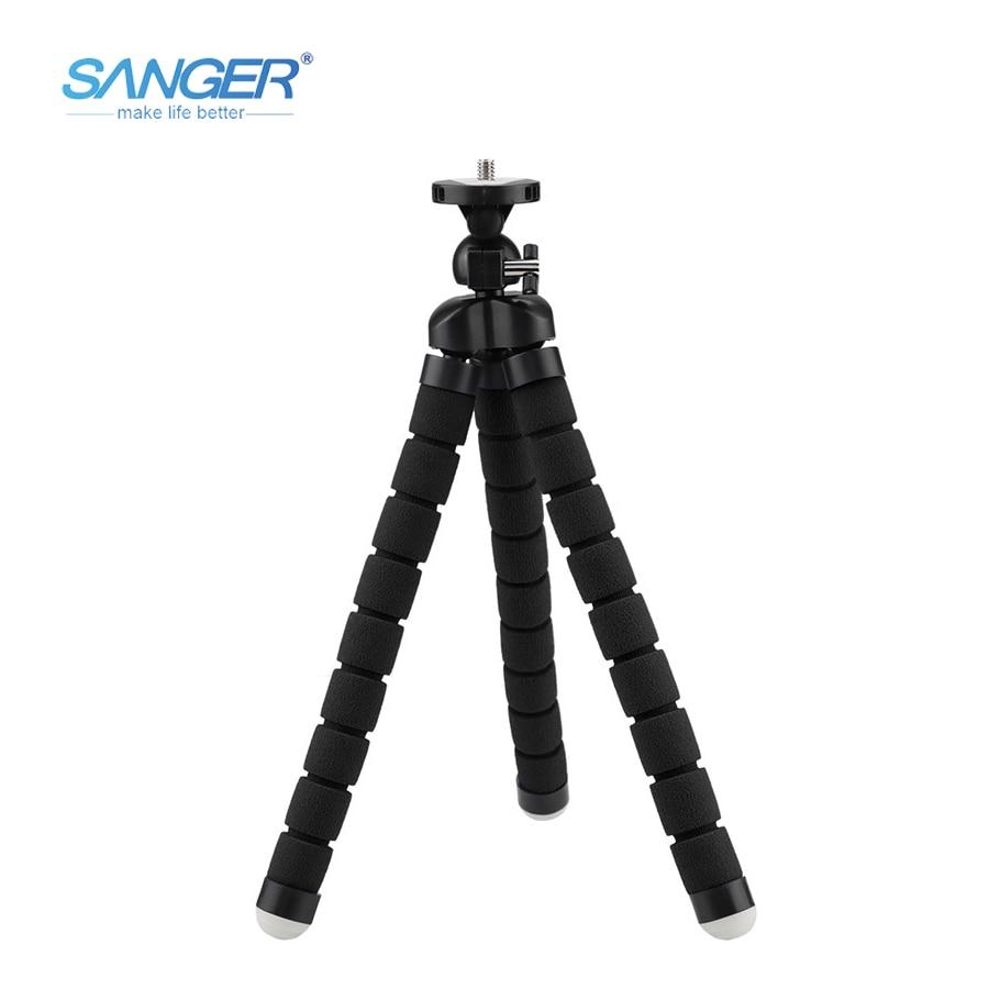 SANGER multifunkční Slr fotoaparát stativy mobilní telefon střední houba stativ pro Xiaomi YI kamera Go pro Hero 5 4 / 3+ Sjcam