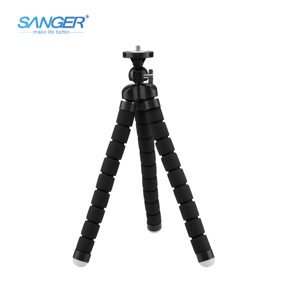SANGER Multifunktionale Slr Kamera Stative Handy Medium Schwamm Stativ für Xiaomi YI Kamera Go Pro Hero 5 4/3 + Sjcam