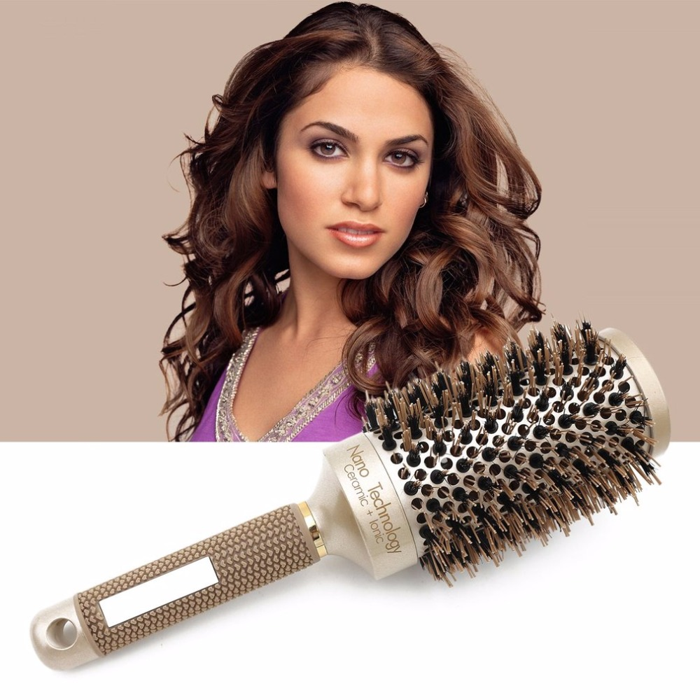 Керамическая алюминиевая круглая расческа для волос, профессиональная расческа для волос для парикмахерских, инструменты для укладки воло...