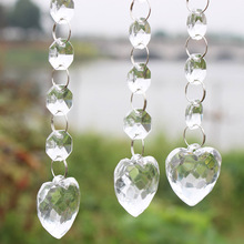 10 pcs / Lot Acrylic Crystal Beads Garland Chandelier Hanging Wedding Party Decor Supplies