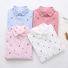 Fashion Blouses 2019 Women Summer New Simple Leaf Printed Lo