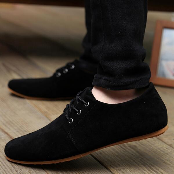 Плюс размер 38-46 2016 мужская повседневная обувь Дышащая моды бренд ходьба мужчины обувь замши обувь для мужчин Оксфорд обувь