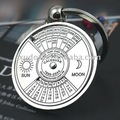 10 pçs/lote Calendário Perpétuo Metal Keychain Da Corrente Chave chave Anel 5127 Frete Grátis