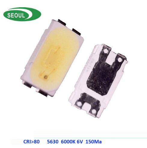 100Pcs CRI +80 LED SMD 5630 SMD 6 Volts Diodes 1W LED Ultra Bright White 6000K 100-120LM Lamps 150MA 100pcs 100pcs ultra bright 0603 smd led blue