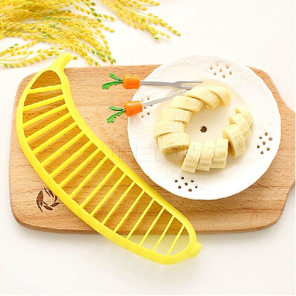 1pcs Banana Slicer Chopper Cutter Plastic Banana Salad Make Tool Fruit Salad Sau