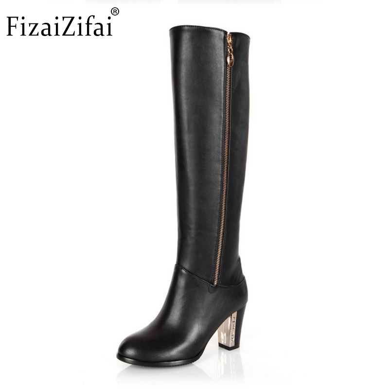 Women Genuine Real Leather Knee Boots Winter Snow Boots Sexy High Heel Fashion Zipper Women Riding Boots Shoes Plus Size 30-45Women Genuine Real Leather Knee Boots Winter Snow Boots Sexy High Heel Fashion Zipper Women Riding Boots Shoes Plus Size 30-45