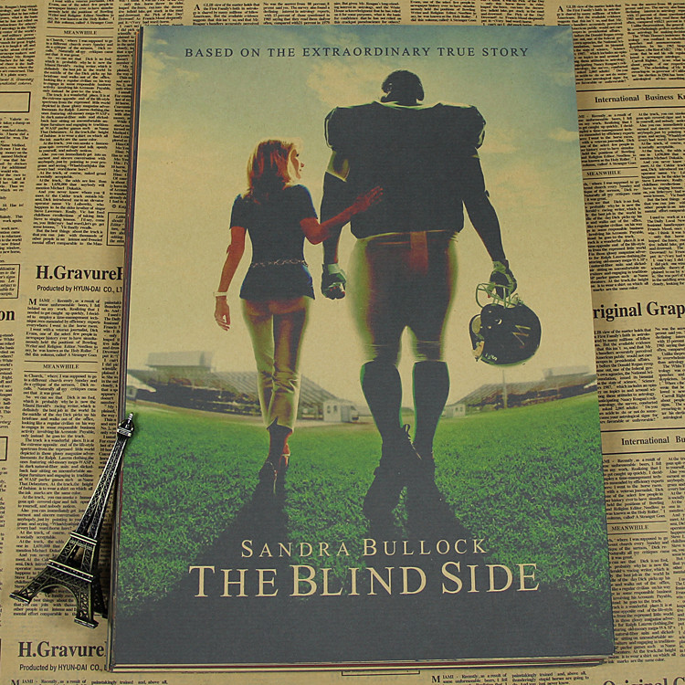 Vintage Poster The blind side sports movie poster poster paper drawing core living room retro poster 30x21cm