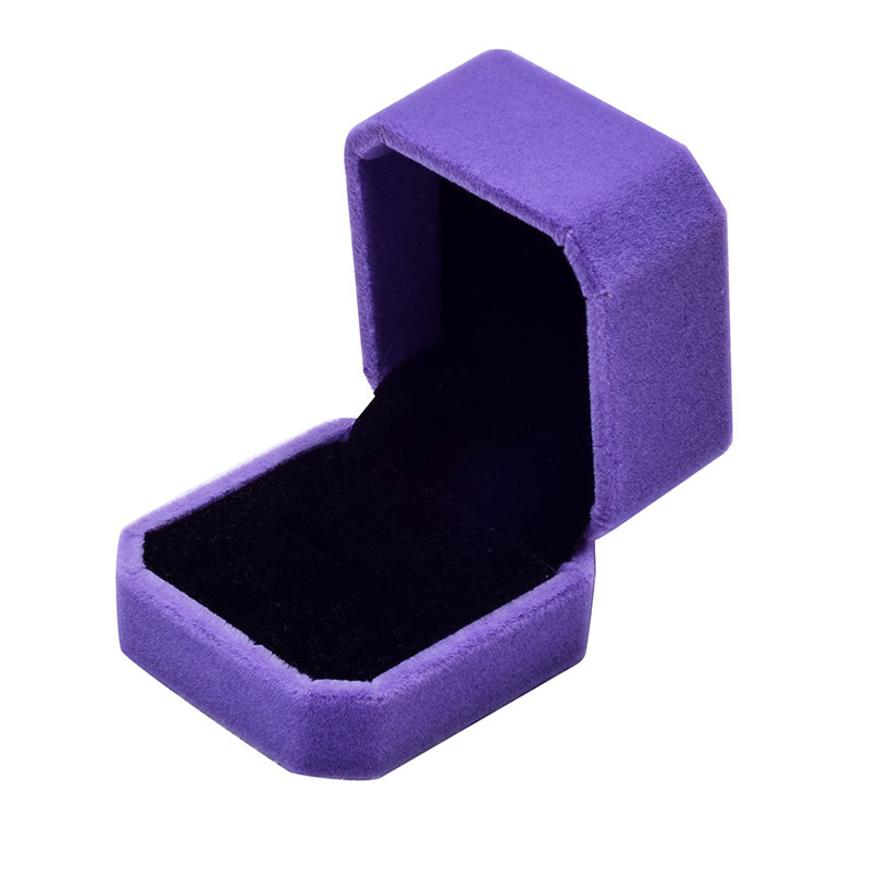 Fashion Velvet Engagement Wedding Earring Ring Pendant Jewelry Display Box Gift ring box Storage Boxes #3F12 (7)