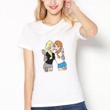 Summer Women's T-shirt Vogue Punk Princesas Tumblr Funny Princess Bad Woman Printed Tshirt Ladies Harajuku Short Sleeve Clothes princesas stickermania castillos de ensueno