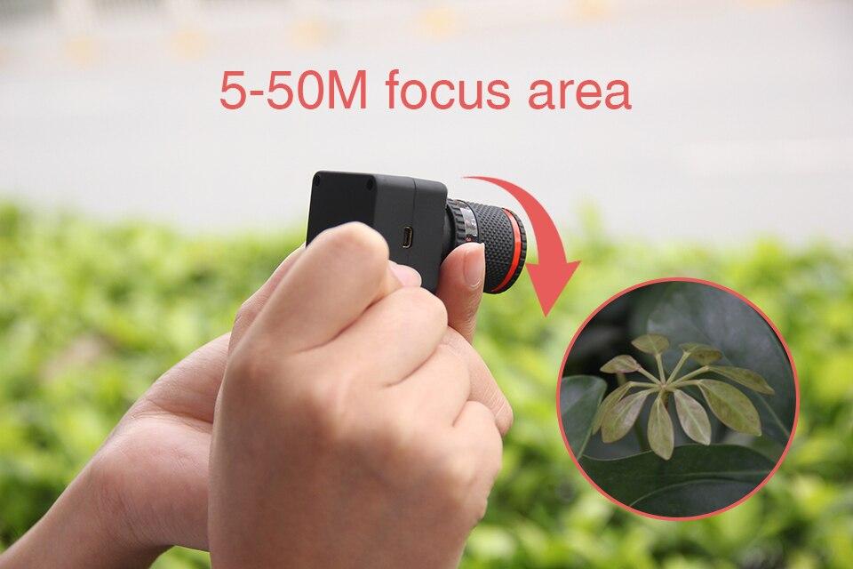 Contrôle APP enregistreur vidéo sans fil 50x jumelles numériques WiFi caméscope P2P 50X Zoom Mini caméra - 2
