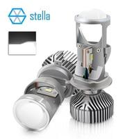 2pcs H4 LED hi lo mini projector lens headlight for car clear beam pattern 12V 5500k no astigmatic problem lifetime warranty