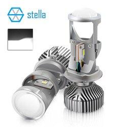 2pcs H4 LED hi-lo mini lente del proiettore fari per auto chiaro fascio di luce 12V 5500k nessun problema di astigmatica garanzia a vita