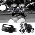 Som motocicleta sistema de rádio áudio guiador 12 V Full band FM Stereo 2 Speakers ATV bicicleta com 3.5 mm AUX Jack de ligação MP3 dispositivo