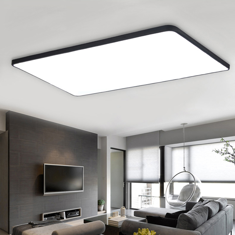 Modern Ceiling Lights Ultra Thin Square Ceiling Lamp Luminaria - Square kitchen light fixtures