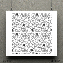 AZSG Cat /A Lovely Clear Stamps For Scrapbooking DIY Clip Art /Card Making Decoration Crafts