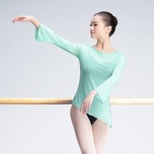 Blouse Classical-Dance-Costume Ballet Girls Mesh Gymnastics Stretch Adults Sexy Women