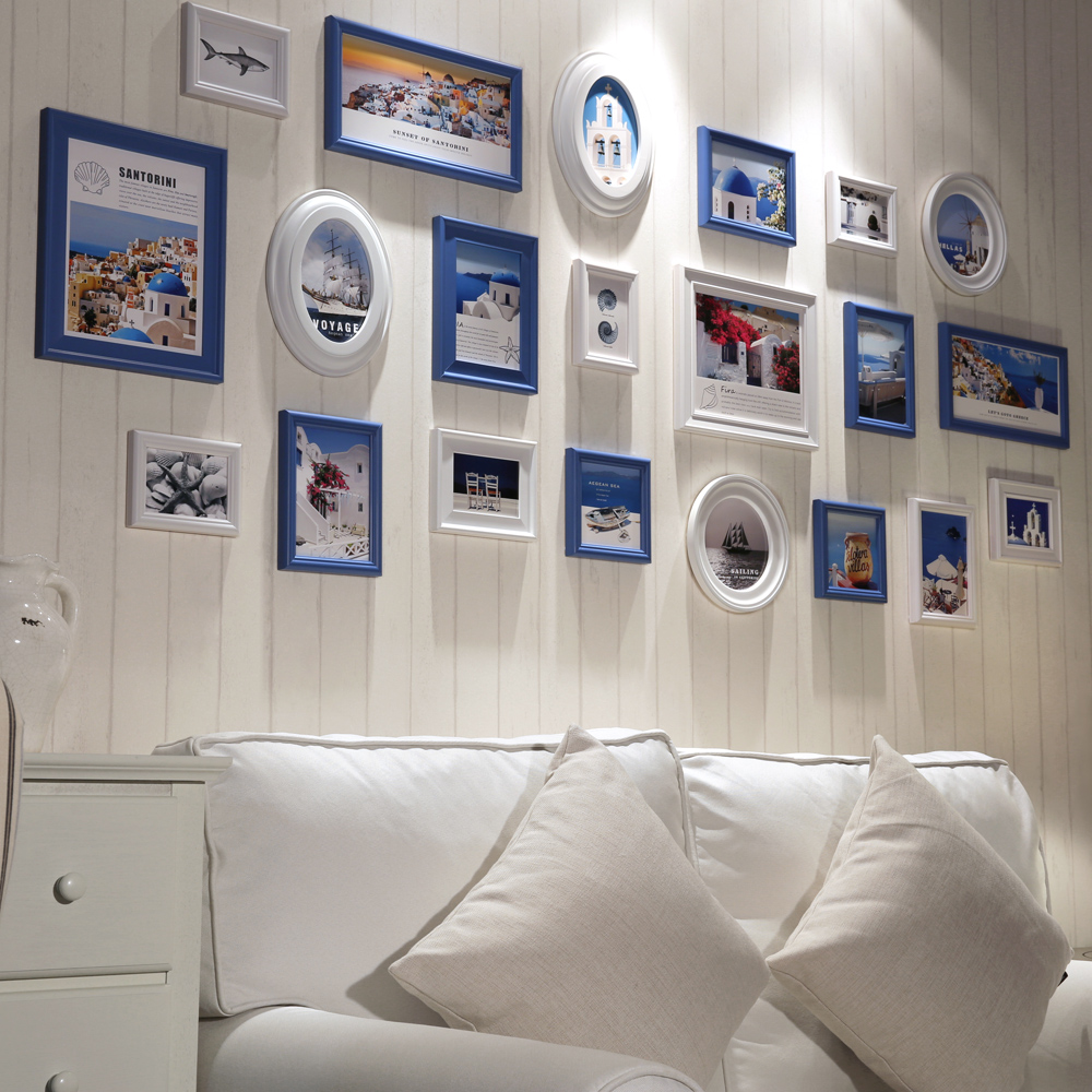 21pieceset wall collage photo frames set white wooden photo frame cheap round photo frames