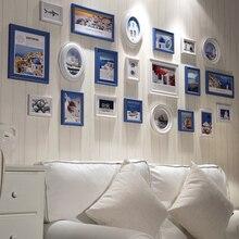 21 pièce/ensemble Mur Collage Cadres Photo Set Blanc En Bois Cadre Photo Pas Cher Ronde Photo Cadres pour Photo Livraison Gratuite