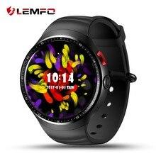 Original LEMFO LES1 1.39 Polegada Tela Sensível Ao Toque AMOLED Android 5.1 MTK6580 1 GB/16 GB Inteligente Watch Phone com câmera de 2.0 MP câmera