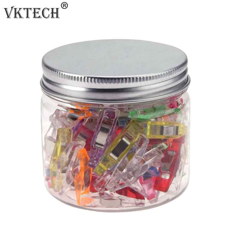 50pcs Plastic Wonder Clips Holder Tools for DIY Patchwork Fabric Clip Quilting Hemming Craft Sewing Knitting Tools Random Color