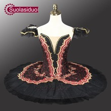 Adult Red Black Swan Classical Ballet Tutu Costume Professional Tutus For Performance SD0014