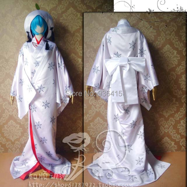 Anime Hatsune Miku Vocaloid Magician cosplay white wedding Loro Rita maid outfit Halloween costume for women party/christmas