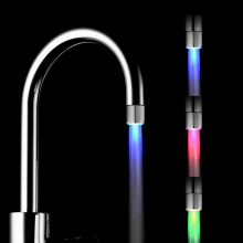 цена на LED Water Faucet Stream Light 7 Colors Changing Shower Stream Tap Head Pressure Sensor Bathroom Kitchen Accessories Night Light
