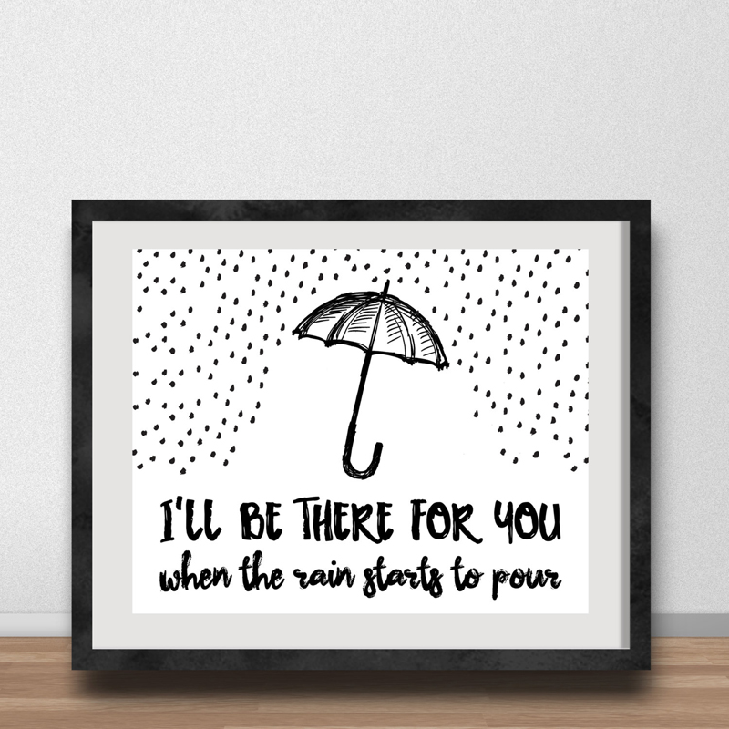 If You Fall Ill Be There Ground Wallpaper Umbrella Quotes Canvas Painting I Ll Be There For You When