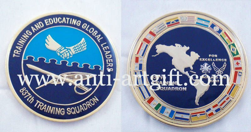 Монеты из металла на заказ сувенир мягкая эмаль металл с эпоксидным покрытием die поразил синий с OEM/ODM обслуживание