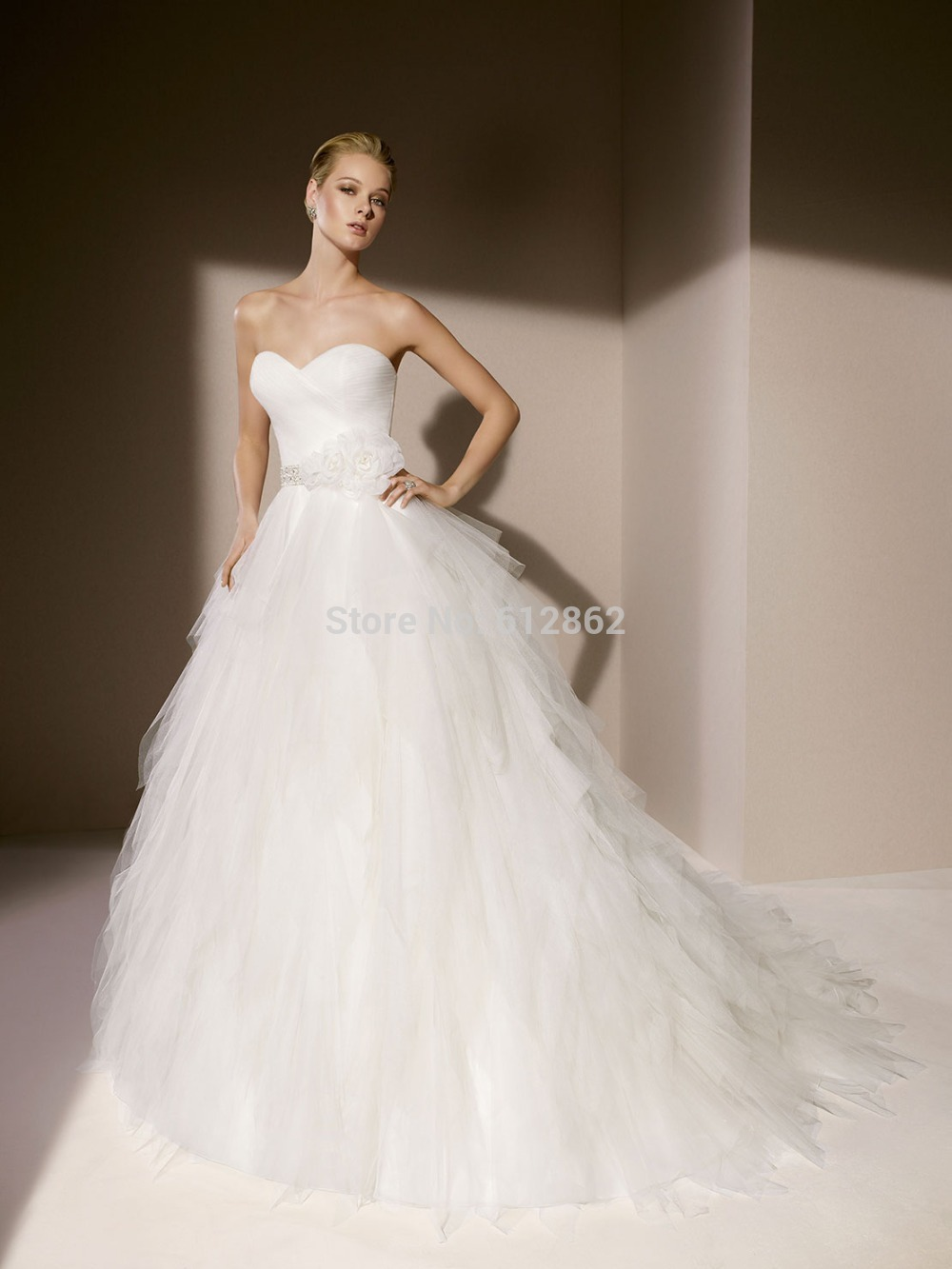Simple strapless sweetheart tulle low cut back long train latest simple strapless sweetheart tulle low cut back long train latest wedding dress in wedding dresses from weddings events on aliexpress alibaba group ombrellifo Images