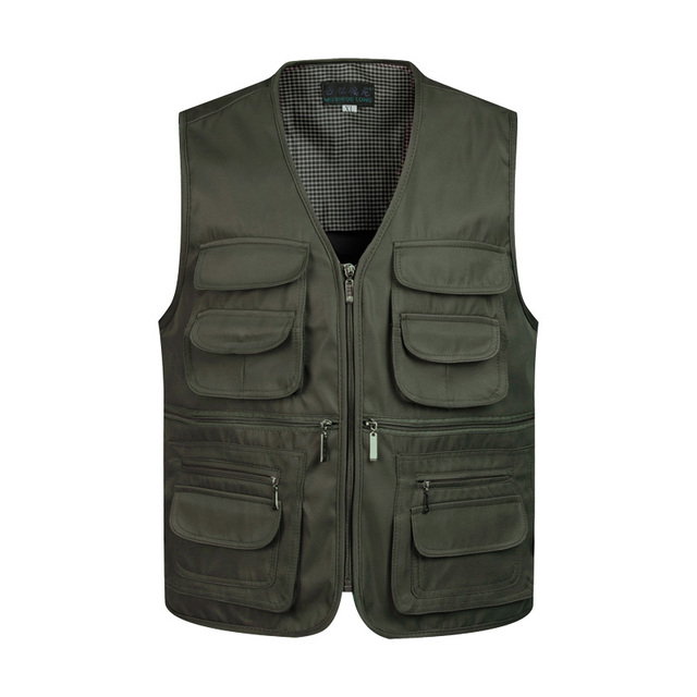 ce744381fa4 ZozoMan Vests Sleeveless Unloading Fashion Waistcoat With Many Male Coat  Pockets Military Jacket Mens Tactical Vest Sweatshirts-in Vests   Waistcoats  from ...