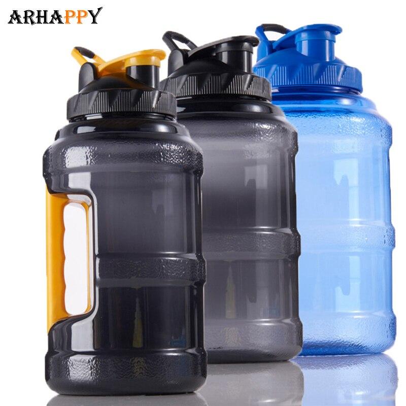 Botella de agua deportiva de plástico de boca ancha de 2.5L para deportes al aire libre de gran capacidad para botella de agua, botella de agua libre de BPA