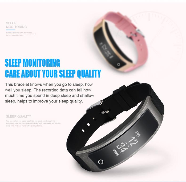 Smartch I8 Smart Bracelet Talk Band Heart Rate Blood Pressure Oxygen Pedometer Bluetooth smartband watch Than Huawei B3 9