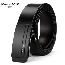 MartinPOLO Fashion Designers Business Automatic Buckle Leather luxury Men Belts Male Alloy buckle for MP01201P