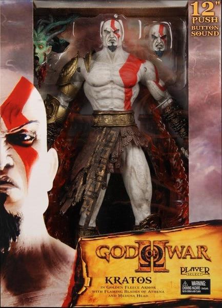 """O Envio gratuito de Figuras de Ação NECA Toys God Of War 2 Infamous Kratos Figura 12 """"PVC Action Figure Toy Modelo # GOW005"""