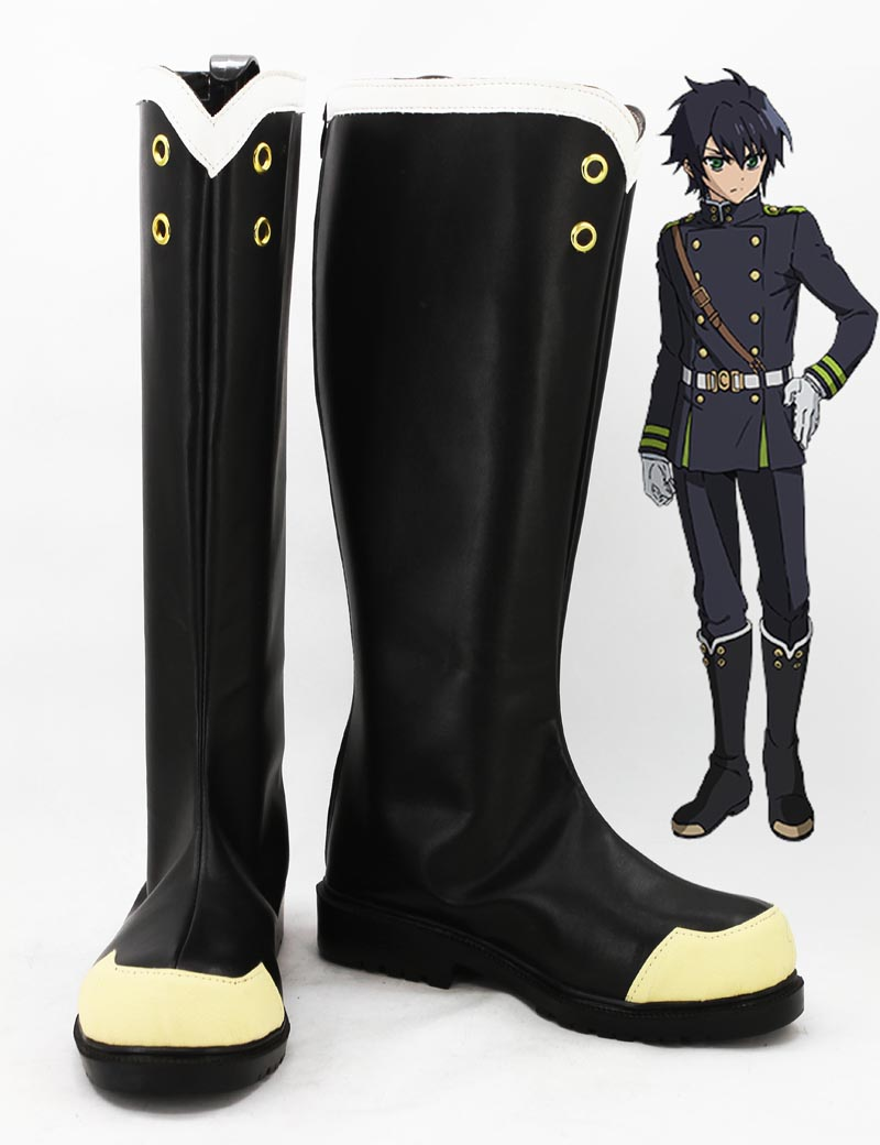 Newest Custom Made Japanese Anime Seraph of the end : Vampire Reign Yuichiro Hyakuya Cosplay Shoes Boots For Halloween