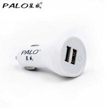 ПАЛО 2 Портами 5V2. 4A Двойной Порт Mini-USB, Автомобильное Зарядное устройство Быстро заряда Автомобильное зарядное устройство для iPhone 7 6 6 s 5S 5 Samsung s6 Xiaomi HTC
