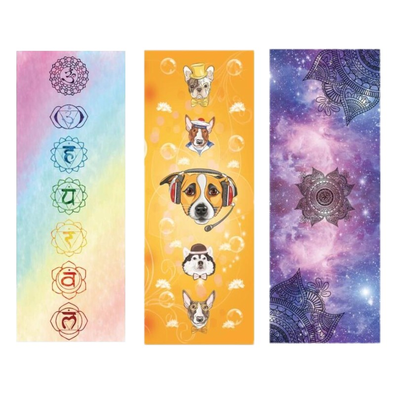 New Printed Yoga Mat Suede Natural Rubber 183 68cm Anti Slip Mat for Fitness Pilates Gymnastic