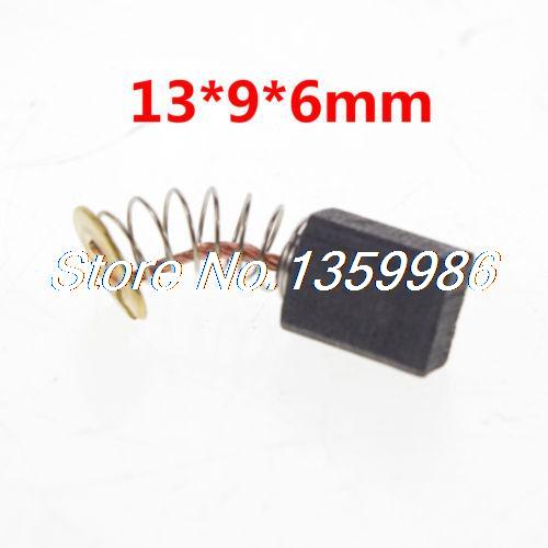 10 pcs 13 x 9 x 6 mm Power Tool Carbon Brushes for Electric Motor 20pcs 5x10x19mm electric motor graphite carbon brushes springs