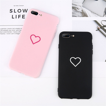 Cartoon Couples Love Heart Case For iphone7 7Plus 8 8Plus Hard PC Phone Cover  Cases 80