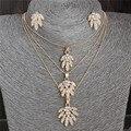 Gold Fashion Plateó la Joyería Stes ZOSHI Marca Mujeres Pendientes y Collar de La Joyería Para Las Mujeres Al Por Mayor Joyería de La Boda