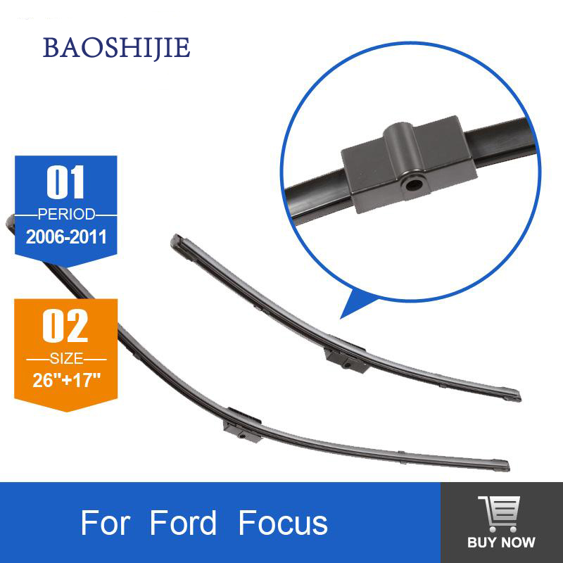 """Prix pour Lame d'essuie-glace pour Ford Focus (2006-2011) 26 """"+ 17"""" fit side pin type d'essuie-glace des armes qu'à HY-006V"""