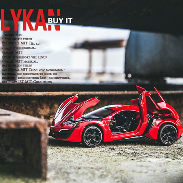 JY 1:32 Speed And Passion 8 With The Same Lykan Dodge Sports Car Simulation