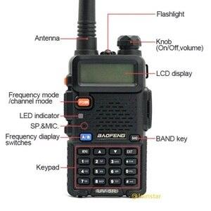 Image 5 - Baofeng UV 5R トランシーバー CB 無線トランシーバ 5 ワット VHF UHF デュアルバンド FM ハンドヘルド Amauter ハム双方向ラジオ UV5R 狩猟用