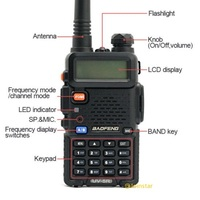 band uhf vhf Baofeng UV5R מכשיר הקשר CB רדיו משדר 5W VHF UHF Dual Band FM Handheld Amauter Ham שני הדרך רדיו UV5R לציד (5)