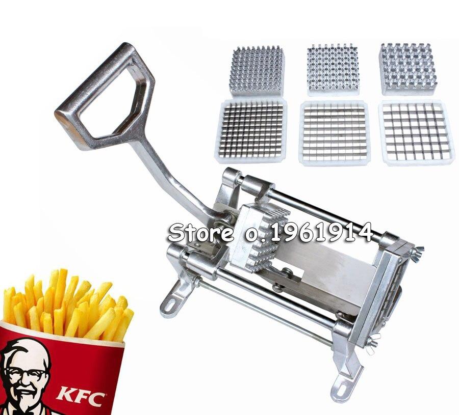 Chaud en acier inoxydable français maison cuisine frite frites pommes de terre Chips bande coupe coupe Machine fabricant pommes de terre outils