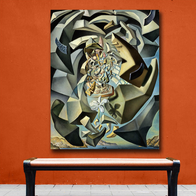 Wall art Salvador Dali 1954 Microphysical Madonna Painting Living Room Home Decoration Oil Painting on Canvas Wall Painting 1