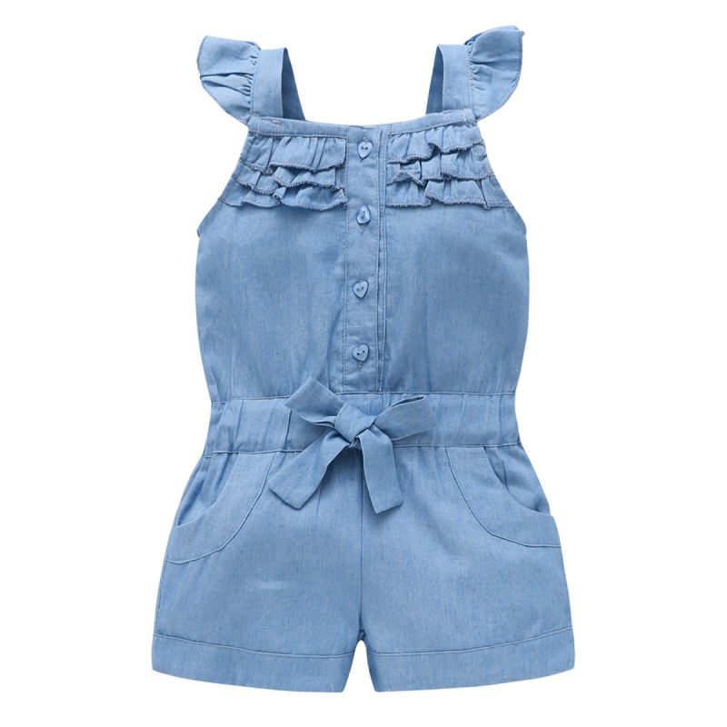 New Fashion Summer US Style Girl Jumpsuit Cute Sweet Fashion Washed Jeans Denim Romper Jumpsuits Straps Short Pants Cowboy ANew Fashion Summer US Style Girl Jumpsuit Cute Sweet Fashion Washed Jeans Denim Romper Jumpsuits Straps Short Pants Cowboy A
